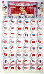 Wholesale Flag Pin Badges - New! Popular 48pcs national flag badge diameter 3cm pin charm full swing kids party best gift free shipping