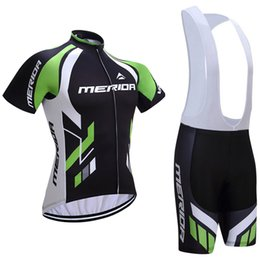 Wholesale Merida Bicycle Jerseys - Free shipping 2017 Merida cycling jersey 3D gel pad bike shorts Ropa Ciclismo quick dry team bicycling wear mens summer bicycle Maillot Suit