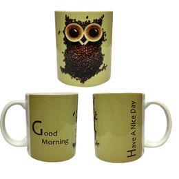 Wholesale Eye Mug - Creative Cartoon Animal Series Coffee Beans Body and Coffee Cups Eyes' Owl Ceramics Mug Coffee Cup Tea Cup Mugs Decorative Gift