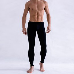Wholesale Matching Underwear - Wholesale- 2016 Men's Low Rise Long johns Thermal Pants Color Matched Modal Underwear Trousers