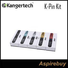 Wholesale Blue Led Light Battery - Kanger K-Pin Kit Built-in Li 2000mah Battery with 4ML Capacity Tank 5 LED Light SSOCC Coils Compatible Unique Design 100% Original