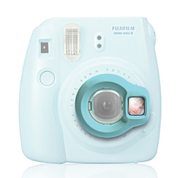 Wholesale Shoot Cameras - Wholesale- Instax Mini 8 Instant Camera Close-up Lens Self Shoot Mirror by Takashi - Blue