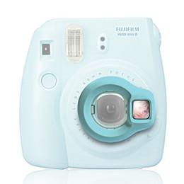авто мини-камеры Скидка Wholesale- Instax Mini 8 Instant Camera Close-up Lens Self Shoot Mirror by Takashi - Blue