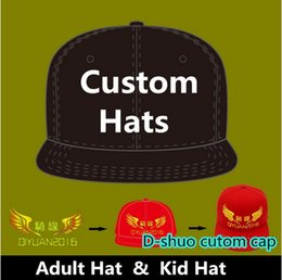 Wholesale Custom Hat Embroidery Wholesale - Logo Custom Baseball Caps Hip Hop Snapback Adult Kids Size Embroidery Printing Logo Fitted Full Complete Closed Hat Factory