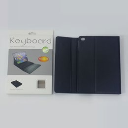 Wholesale Ipad Protection Cases - Bluetooth Keyboard Protection slim lined leather case for Apple iPad Air Wireless Bluetooth Keyboard & Leather Case