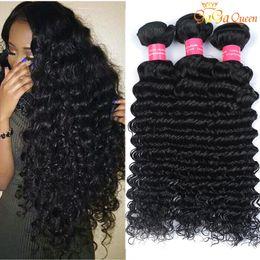 Wholesale Deep Weaving - 4 Bundles Brazilian Deep Curly Virgin Hair Unprocessed Brazilian Human Hair Extensions Mink Brazilain Virgin Hair Deep Wave Very Soft