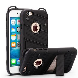 Wholesale Iphone Armour - Case For iPhone 7 heavy duty armour Hybrid Armor Case cover with kickstand for iPhone X 8 6 6S Plus Samsung s7 s8