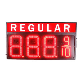 Wholesale Led Station - High Bright Gas station led gas price sign 16 inches digits LED fuel price sign red color 8.888 8.889 10