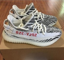 Wholesale Race Boots Size 13 - 350 Boost V2 Cream White CP9366 Kanye West SPLY-350 Black White Zebra Boost V2 Sneakers Size US 5-13