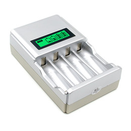 Wholesale charger nimh nicd - 903 4 Slots LCD Display EU US Intelligent Battery Charger For AA   AAA NiCd NiMh Rechargeable Batteries