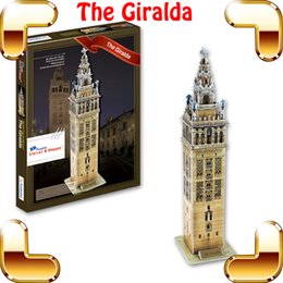 Nouveau cadeau à venir Giralda tour 3D puzzle bâtiment tour modèle papier puzzle bureau décoration bricolage jouet pour la famille jeu puz jouets ? partir de fabricateur