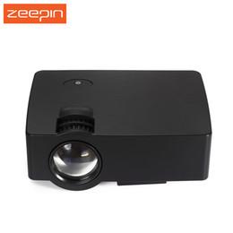 Wholesale Video Technology - Wholesale-E08 LCD Mini Home Projector Multimedia Cinema LED HD Technology Projector LCD Technology Support AV VGA USB Home Theater Video