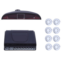 Wholesale Cpu Car - 1Set 8 Parking Sensor Kit Car LED Display Rear Reversing Backup Radar Alarm System Double CPU Advanced Chip With English Voice