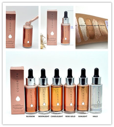 Wholesale Glowing Face Cream - 2017 Cover FX Custom Enhancer Drops Face Highlighter Powder Makeup Glow 5 color 30 ml liquid Highlighters Cosmetics