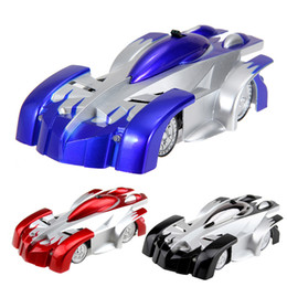 Wholesale Racer Cars - Wholesale- Wall Climber Car ABS Green Plastic 4 Channels RC Racer Radio Remote Control Racing Car Toy Gift for Children