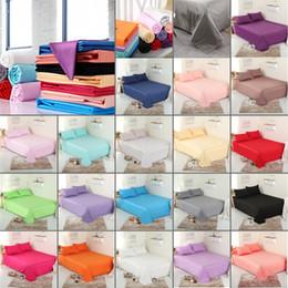 Nouveau shpping gratuit 100% coton couleur unie drap housse double pleine reine roi 19 couleurs drap de lit ? partir de fabricateur