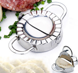 Wholesale Stainless Steel Pastry Cutters - New Eco-Friendly Pastry Tools Stainless Steel Dumpling Maker Wraper Dough Cutter Pie Ravioli Dumpling Mould Kitchen Accessories