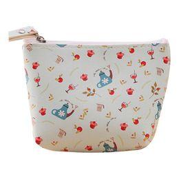 Wholesale Flora Bags - Wholesale- Hot Sale Fresh Style Flora Print Wallet Card Holder Coin Purse Wallet Bag Change Pouch Key Holder Bolsa Da moeda Bonita Dec13