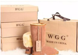 Wholesale Womens Brown Knee Boots - ALL model in stock 2017 Free shipping High Quality WGG Women's Classic tall Boots Womens boots Boot Snow Winter boots leather boot