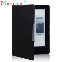 Wholesale Auto Protective Film - Wholesale- Magnetic Auto Sleep Leather Cover Case For NEW KOBO AURA H2O eReader+HD Screen Protective Film+TOUCH PEN Drop Shipping NOV23