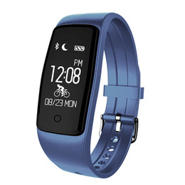 Wholesale Heart S1 - S1 Bluetooth Smart Band Wristband Heart Rate IP67 Waterproof Sport Smartband Bracelet For Android IOS Phone