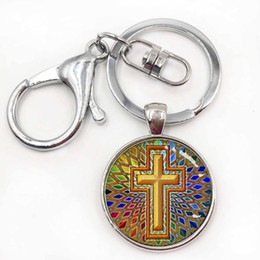 Wholesale Jesus Metal Pendant - Cute animal art pendant keychain fashion men jewelry Christian Fish Ichthus, christian, jesus religion culture key holder
