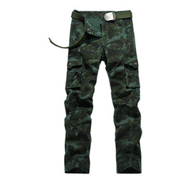 Wholesale Military Uniform Men - Men s Personality Camouflage Uniforms Long Trousers Cargo Pants Military Pants Good Quality Pockets Army Green plus size