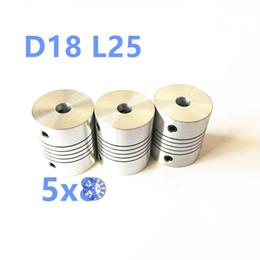 Wholesale Flexible Coupling Coupler - Wholesale- 5pcs 5*8mm Flex Shaft Coupling Diameter 18mm Length 25mm 5mm to 8mm Flexible Shaft Coupler