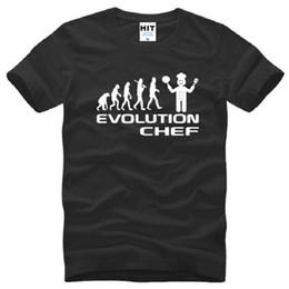 поварские рубашки Скидка Evolution Chef кулинария смешные мужчины футболки Новое Лето с коротким рукавом О-образным вырезом хлопок прохладный Evolution футболка Tee топы
