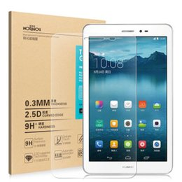 Wholesale Huawei Mediapad 3g - Wholesale- For Huawei Mediapad T1 8.0 Tempered Glass Screen Protector 9h Safety Protective Film on 3G S8-701u Honor Pad Pro T1-821L T1-823L