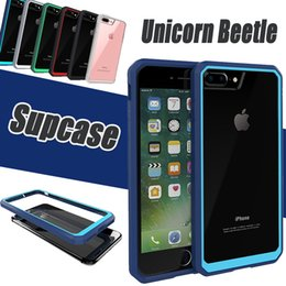 Wholesale Bumper Case Retail Packaging - Supcase Unicorn Beetle Hybrid Hard Back Bumper Case Clear TPU + PC Cover For iPhone 8 7 Plus 6 6S Samsung S6 Edge Note 5 With Retail Package