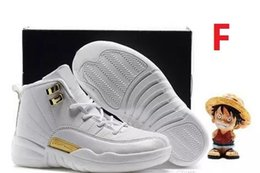 Wholesale Youth Boys Size 12 - 2017 Air Retro 12 Kids Shoes Children J12s Basketball Shoes High Quality Sports Shoes Youth Sneakers For Sale Size: US11C-3Y EU28-35