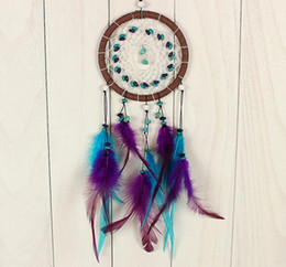 Wholesale Dreamcatcher Jewelry - Handmade valentine's creative jewelry turquoise dreamcatcher auto supplies creative graduation gifts crafts accessories bridal chamber FV01