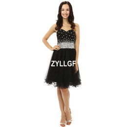 Wholesale Luxury Prom Dresses Sale - 2017 Hot Sales Black A-line Lace up Luxury Pattern Crystal Beaded Dresses Hater 2017 Pearls Illusion Backless Prom Party Dress Formal Gown