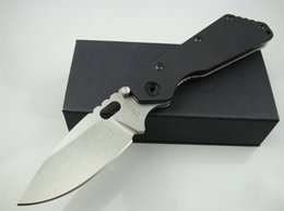 Wholesale Strider D2 - STRIDER tank D2 blade G10 + TC4 titanium Handle Folding Pocket Knife Tactical Survival Hunting Tool Knife xmas gift knife for man 1pcs