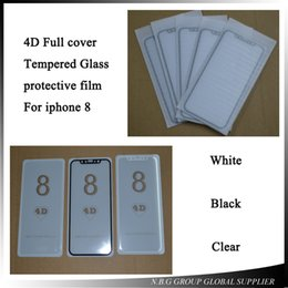 Wholesale Protective Covers Premiums - 10pcs lot Newest 4D Round Full Curved Edge Tempered Glass For iPhone X Screen Protector Film Full Cover Size Protective Premium Free