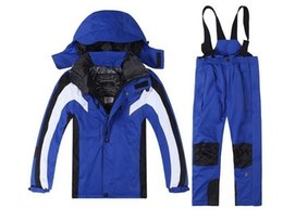 Wholesale Children Ski Suit - 2016 new outdoor children 's ski suit boys and girls super - warm ski suits M L XL XXL
