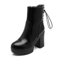 Wholesale Halloween Pole - The 2018 new South Pole lady Martin boots, winter warm women's shoes, big size 34-42
