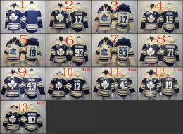 Wholesale Drop Stops - 2017 Pullover Hoodie Stitched Toronto Maple Leafs Hoody #19 Joffrey Lupul #17 Wendel Clark Blue Cream Hockey Jerseys Ice Jersey do Drop Ship