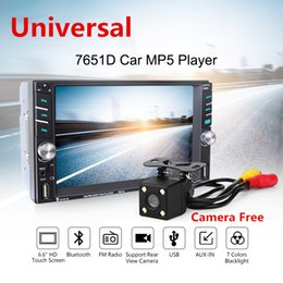 """Wholesale Media Player Tuner - Universal Car MP5 Media Player with Rear Camera 6.6"""" Touch Screen 2 DIN Bluetooth FM Radio Stereo Player Support as Car DVD Function"""