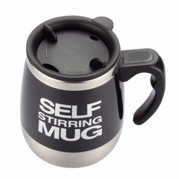 Wholesale Automatic Stirring Coffee Cup - Self Stirring Coffee Cup Mugs Double Insulated Coffee Mug 450 ML Automatic Electric Coffee Cups Smart Mugs Mixing CoffeeCup