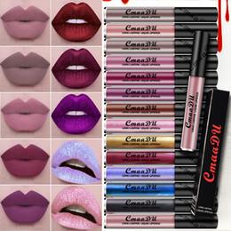 Wholesale Make Up Lipstick Long Lasting - CmaaDu Long Lasting Liquid Lipstick Makeup Metallic Shimmer Matte Lipstick Lip Gloss Cosmetics Make Up Frost Lipgloss 16 Colors Hot Sale