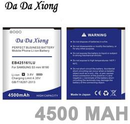 Wholesale Ace Battery - Da Da Xiong 4500mAh EB425161LU Battery for Samsung galaxy s3 mini i8190 i699 ace 2 i8160 S7562 S7562I S7568 i8190N i739 S7580