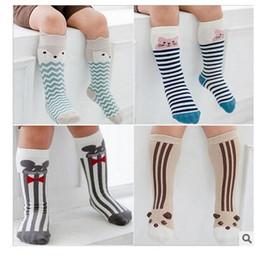 Wholesale Toddling Baby - Fox Socks Baby Boy Girl Knee socks Fashion Toddle Cotton Cute Baby Bear Cat Socks Children Leg Warmers Christmas