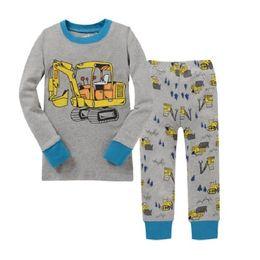 Wholesale christmas nightwear children - New Children Clothes Kids Clothing Set Boys Pajamas Sets Styling Nightwear Print Pajamas Girls Sleepwear Baby Pyjama homewear 2-7t