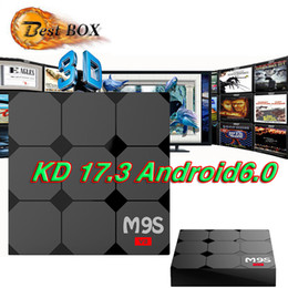 Wholesale 3d Set Models - 2017 RK3229 M9S V3 android 6.0 tv boxes KDplayer 17.3 installed 4K HDR H.265 HEVC 3D Movies play Private model 1GB 8GB WIFI set top box