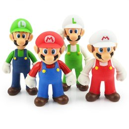 Wholesale Luigi Fire Toys - Super Mario Figure Toy Mario Luigi PVC Figure Doll Toys Fire Mario Fire Luigi Action Figures For Gift