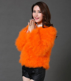 Wholesale Ostrich Feather Coat Xl - 13 colors fashion sexy Ostrich wool turkey fur wool coat feather fur short jacket angelababy dongguan_wholesale in stock S-2XL