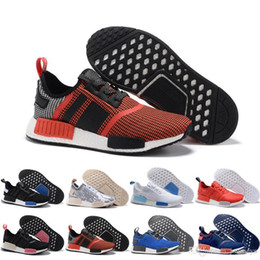 Wholesale Orange Camo Shoes - Wholesale Cheap 2017 New NMD Runner PK Primeknit 2016 Men's & Women's NMD Runner Primeknit Black White Oreo Glitch Camo Running Shoes