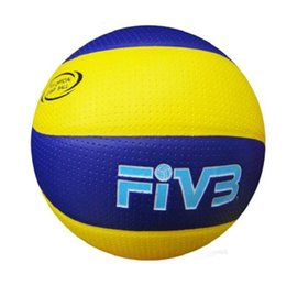 Wholesale Volleyball Leather - Wholesale Mikasa MVA200 Soft Touch Volleyball Size 5 PU Leather Official Match Volleyball For Men Women Free Shipping